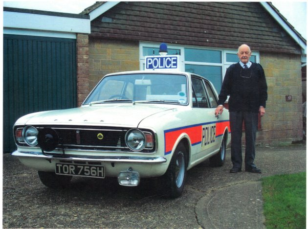 Peter Hillier and Police Car